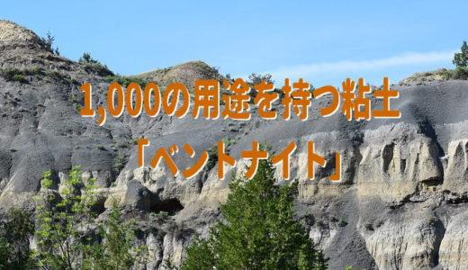 1,000の用途を持つ粘土「ベントナイト」
