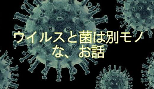 菌とウイルスは別モノ・・・な、お話